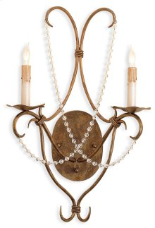 Crystal Lights Gold Wall Sconce
