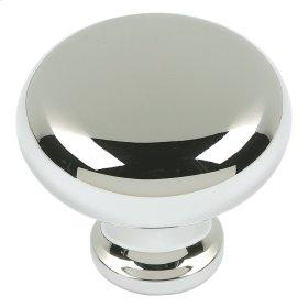 Round Knob 1 1/4 Inch - Polished Nickel