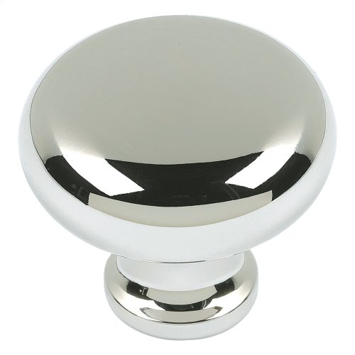 Round Knob 1 1/4 Inch - Polished Nickel