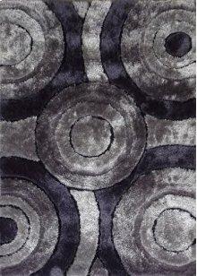 110 Gray Black Rug