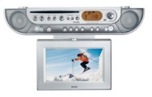 DVD LCD-TV Kitchen Clock Radio
