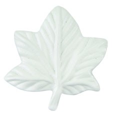 Vineyard Leaf Knob 2 Inch - White