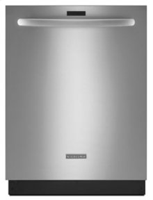 RED HOT BUY-BE HAPPY! 43 dBA Dishwasher with Clean Water Wash System - Stainless Steel