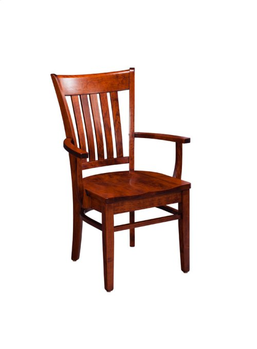 Kaskaskia Arm Chair, Leather Cushion Seat