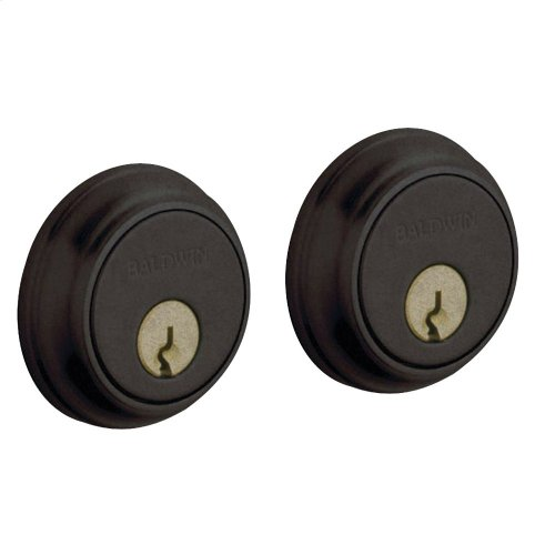 Distressed Oil-Rubbed Bronze Traditional Deadbolt
