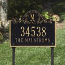 Acanthus Monogram Standard Lawn Two Line Antique Brass Product Image