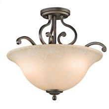 Camerena Collection Camerena 3 Light Semi Flush Ceiling Light OZ