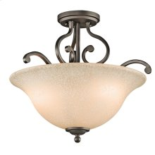 Camerena Collection Camerena 3 Light Semi Flush Ceiling Light OZ