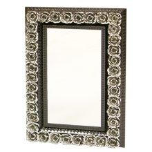 Rectangular Tin Mirror w/Roses