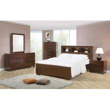 Jessica Dark Cappuccino California King Five-piece Bedroom Set With Storage Bed