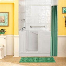 Acrylic Luxury Series 32x60 Walk-in Tub, Left Drain  American Standard - Linen