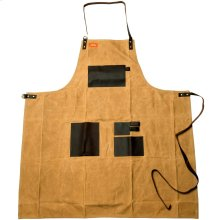 Grilling Apron - Brown Canvas & Leather XL