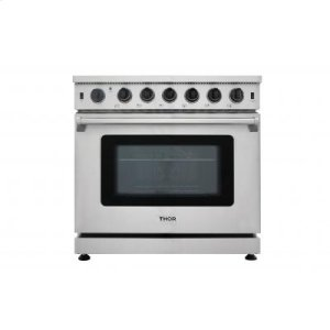 ThorThor Kitchen - 36 Inch Professional Gas Range In Stainless Steel