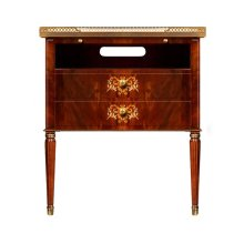 Swirl Mahogany & Mother of Pearl Nightstand