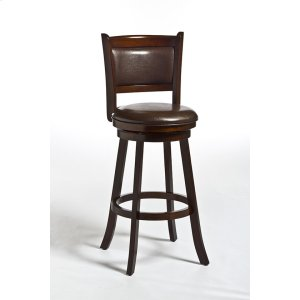 Hillsdale FurnitureDennery Swivel Barstool W/brown Vinyl