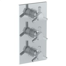 """Wall Mounted Thermostatic Shower Trim With 2 Built-in Controls, 6 1/4"""" X 12"""""""