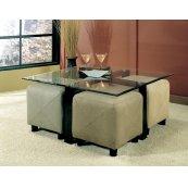 Contemporary Square Glass Coffee Table