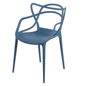Russell Molded PP Arm Chair, Nile Blue