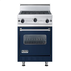 """Viking Blue 24"""" Char-Grill Companion Range - VGIC (24"""" wide range with char-grill, single oven)"""