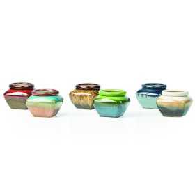 "4"" Square Self-Watering Pot Assortment (6 assorted/carton)"