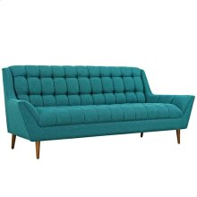 Response Upholstered Fabric Sofa in Teal