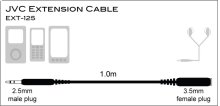 1M EXTN. CABLE/2.5MM JACK
