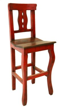 "24"" Red/Walnut Alis Barstool"