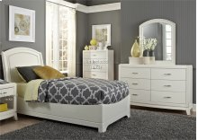Full Leather Bed, Dresser & Mirror