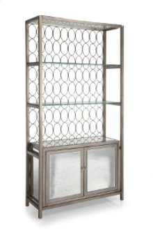 Shelf with 2 Door Cabinet