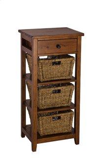 Tuscan Retreat® 3 Basket Stand - Antique Pine