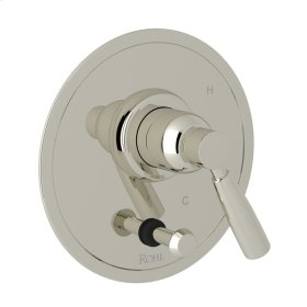 Polished Nickel Perrin & Rowe Holborn Pressure Balance Trim with Diverter with Holborn Metal Lever