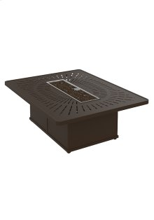 "La'Stratta 54"" x 42"" Rectangular Fire Pit, Manual Ignition"