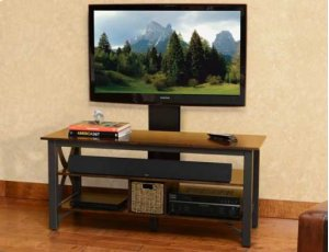 Gunmetal Audio Video Stand Fits AV components and TVs up to 60""