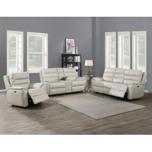 Steve Silver Co.Duval Ivory 3-Piece Dual-Power Leather Motion Set(Sofa, Loveseat & Chair)