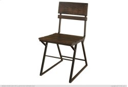 Iron Chair w/wooden seat & back rest Product Image