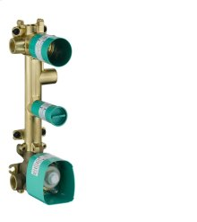 Basic set for thermostatic module 380/120 for 3 outlets for concealed installation