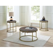 "Samuel Round End Table 22"" x 22"" x 24"""