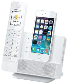 Link2Cell Digital Phone with iPhone5 Integration and Answering Machine KX-PRL260W 1 Cordless Handset