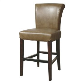Bentley Bonded Leather Counter Stool, Molasses