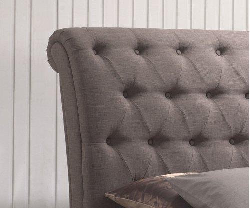 Emerald Home Innsbruck Upholstered Bed Kit King Linen Mineral Cappuccino B115-12-k