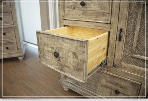 6 Drawer, 1 Door Dresser