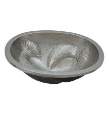 Moon Wrasse Hammered Nickel Bath Sink