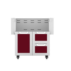 "Hestan30"" Hestan Outdoor Tower Cart with Door/Drawer Combo - GCR Series - Tin-roof"