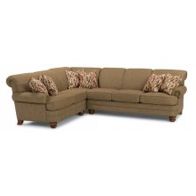 Bay Bridge Fabric Sectional with Nailhead Trim