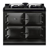 """AGA Dual Control 39"""" Electric/Natural Gas Black with Stainless Steel trim"""