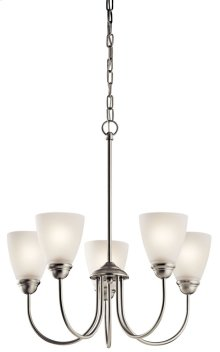 Jolie 5 Light Chandelier Brushed Nickel
