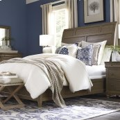 King/Provence Espresso Provence Sleigh Bed