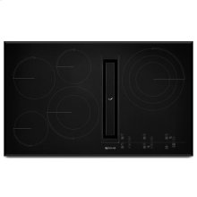 """JennAir® Euro-Style 36"""" JX3 Electric Downdraft Cooktop with Glass-Touch Electronic Controls - Black"""
