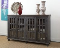 Four Door Sideboard- Weathered Black Product Image