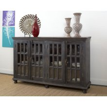 Four Door Sideboard- Weathered Black